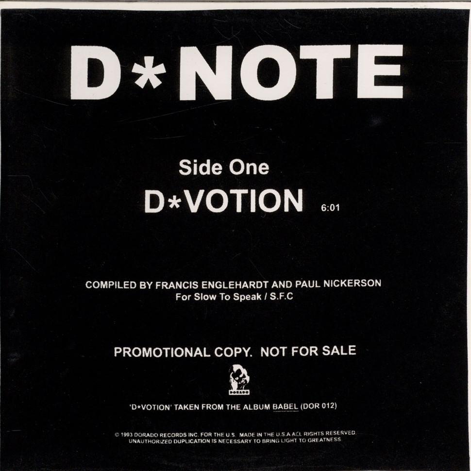 D Note - D Votion