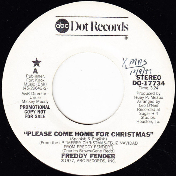 Freddie Fender - Please come home for Christmas